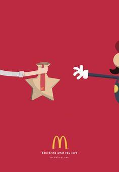¿Qué es lo que más amas? Esa es la pregunta central que McDonalds ha ilustrado en una serie de carteles adorables, creados para promocionar su servicio McDelivery en Dubai.