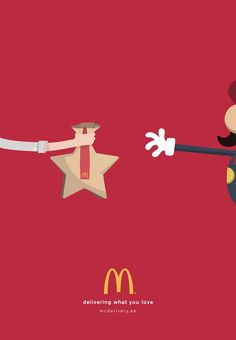 McDonald's Delivers What You Love, Features Adorable Pairings In Print Ads - DesignTAXI.com