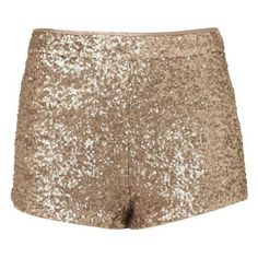 Sequin Shorts featuring polyvore women's fashion clothing shorts gold sequin shorts sequin shorts gold shorts