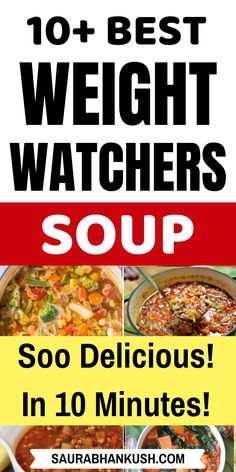Simple Weight Watchers Soup Recipes With SmartPoints? Read 10 Zero Points Weight Watchers Soup Freestyle Recipes that are cheap and easy to cook. Cook my Weight watchers soup recipes and enjoy them. Weight Watchers Casserole, Weight Watchers Meal Plans, Weight Watchers Smart Points, Weight Watchers Breakfast, Weight Watcher Dinners, Weight Watchers Chicken, Weight Watchers Desserts, Weigh Watchers, Ww Recipes