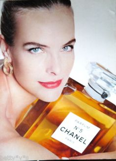 Vintage 1990s Chanel 5 perfume advert A4 size, from magazine