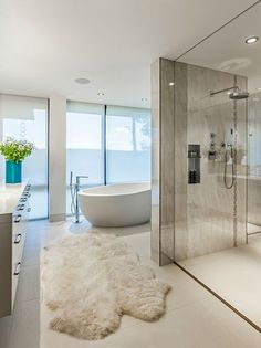 Fluffy Rugs | Not all Bathroom Rugs have to be ugly. Like this one that can real… | NEW Decorating Ideas