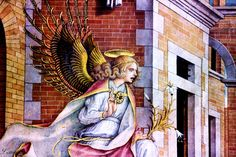 Carlo Crivelli. From 1430 to 1495. Ferrara. The Angel of the Annunciation. 1482 Frankfurt Städelmuseum.