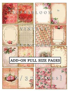 Add On Life Abloom Full Size Pages INSTANT DOWNLOAD by TsunamiRose