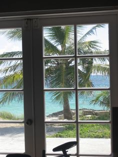"""This is the view """"outside"""" the little Methodist Church in Hopetown, Abaco. Not bad huh?"""