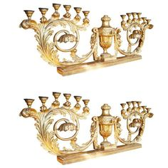 Shop For Cheap Tall Baronial Style Wood Carved Candlesticks Factories And Mines Antiques