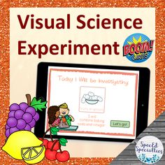 Visual Science Experiment BOOM Cards™ for Distance Learning (Fruity Eruptions) At Home Science Experiments, Teaching Science, Science For Kids, Teaching Resources, Touch And Feel Book, Self Advocacy, Special Needs Students, Special Education Classroom, Gelatin