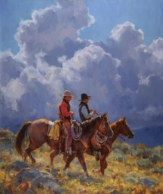 "Jason Rich, Cowboy Artist, ""Afternoon Commute"""