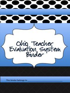 Ohio Teacher Evaluation Binder - OTES- Ohio Teacher Binder