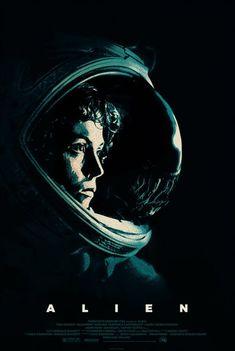My fanart poster of 'Alien' Alien Film, Alien Movie Poster, Alien 1979, Best Movie Posters, Aliens Movie, Alien Art, Sci Fi Movies, Scary Movies, Alien Ripley