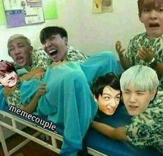 Wtf?? Why?? Kinda disturbing, but the faces that person!! Especially Jin's!