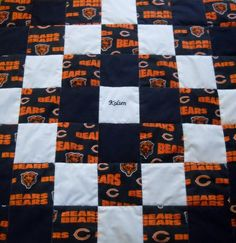 Chicago Bears Quilt by UltimateQuilts on Etsy | Chi-Town Bears ... : chicago bears quilt - Adamdwight.com