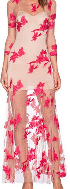 Stylish red long dress