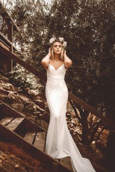 Boho Bride lace wedding dress from the Lovers Society x Green Wedding Shoes Wedding Dress Collection available exclusively at Lovely Bride Bohemian Wedding Inspiration, Bohemian Wedding Dresses, Boho Bride, Bridal Dresses, Wedding Gowns, Lace Wedding, Dream Wedding, Wedding Bride, Fit And Flair
