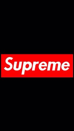Supreme logo background