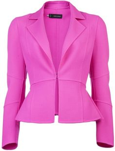with a skirt or else if the waist is dropped a bit then with pants___D SQUARED2   Flirty Peplum Blazer