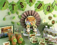 Selva Cupcake Toppers Baby Shower imprimible por CuteMusePrintable