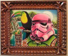 tiki and Star Wars Hawaiian Art, Hawaiian Theme, Tiki Art, Tiki Tiki, Art Deco Wall Art, Tiki Hawaii, Tiki Lounge, Vintage Tiki, Tiki Room