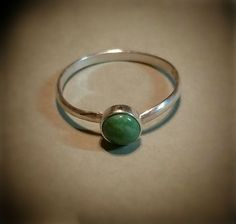 Light Green Turquoise Ring in Sterling, size 5.5. by CatsCreationsLLC on Etsy