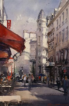 Vladislav Yeliseyev - Light in Paris- Watercolor - Painting entry - May 2017 | BoldBrush Painting Competition