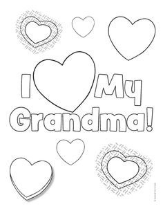 I love you grandma coloring page PreK Mothers day