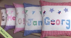 Image detail for -... furnishings these personalised gingham cushions fit the bill perfectly