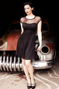 Steady Clothing - TopVintage exclusive ~ Miss Fancy Dalilah Dress Black