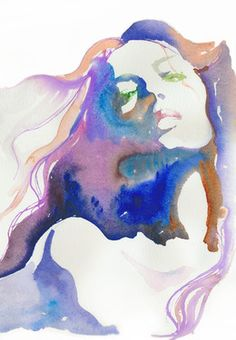 "Saatchi Online Artist Cate Parr; Painting, ""Magique"" #art  Love the water color"