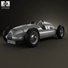 Auto Union Type D 1938 3d car model from humster3d.com. Price: $75