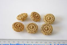 Russian button with earring back worn on Czars by aBeadCarnival, $150.00