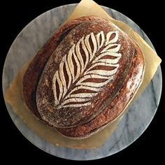 Loaf from yesterday's scoring video. Friendship loaf from the #sourdoughcookbook, 10% WW, 10% Rye, 3% Buckwheat, rest bread flour @82% hydration, retarded for 16 hours. The stencil used in homemade. As a few people have asked me where they can get one, I have made them available to purchase on Etsy (link in bio).