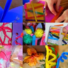 Art and craft in the everyday: a list of simple, non-messy, process oriented art and craft activities.