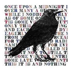 Edgar Allan Poe Digital Art - The Raven Poem Art Print by Sandra McGinley