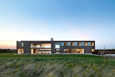 Sagaponak House is a residence located between the Atlantic Ocean and a freshwater pond, in Sagaponack, New York, which was designed by Bates Masi Architec