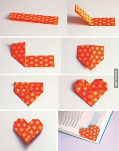 DIY Heart Shape Bookmark