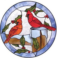 stained glass cardinal bird | 1000+ images about Stained Glass - Birds on Pinterest | Stained glass ...