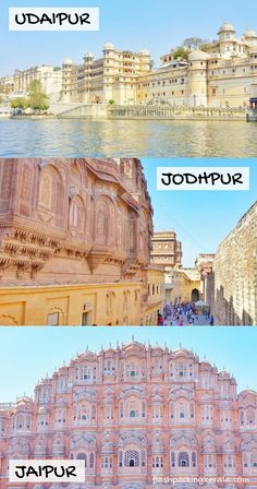 Udaipur to Jodhpur to Jaipur pink palace. Best places to… Travel Rajasthan India. Udaipur to Jodhpur to Backpacking India, Backpacking South America, Kerala Travel, India Travel, India Map, Tourist Places, Places To Travel, India Destinations, Weather In India