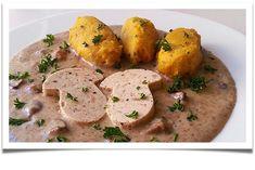 Mishka´s Diary: Šmakoun na hříbkách Tofu, Mishka, Mashed Potatoes, Chicken, Meat, Ethnic Recipes, Whipped Potatoes, Smash Potatoes, Cubs