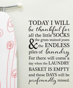 'Today I Will Be Thankful' Wall Quotes™ Decal