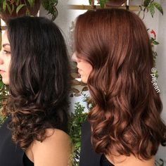 auburn balayage hairstyle in 2019 Red Brown Hair, Dark Hair, Brown Auburn Hair, Chocolate Auburn Hair, Brownish Red Hair, Copper Brown Hair, Auburn Balayage, Hair Color Auburn, Hair Colour