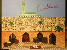 """Casablanca"" The Lonesome Traveler Series acrylic on canvas  H 16"" W 20"" for purchases contact JoeyCalveri@gmail.com"