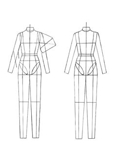 "Figurine for Technical Drawing. (From: www.burdastyle.co...). QUOTE: ""This How-To will teach you how to use a technical croqui for drawing your flats. ""Croqui"" is French for sketch, and in the fashion realm 'croqui' refers to the female figure we draw clothes over. .... for the purposes of this How-To we are using a croqui with more realistic proportions because we are drawing 'flats'. Flats are technical, showing each detail of the garment"" UNQUOTE"