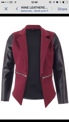 Burgundy and leather jacket