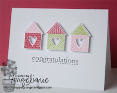 Less is More - Angelique, TFS. SO MANY awesome home made card ideas!