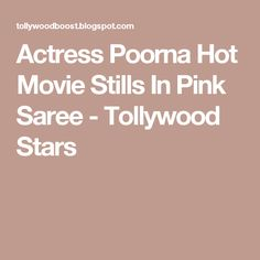Actress Poorna Hot Movie Stills In Pink Saree - Tollywood Stars