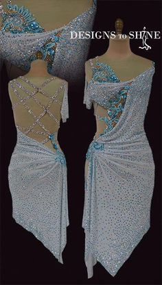 Shop for Latin dancewear in your favorite white color range at Designs to shine by Maria McGill, Our Latin dresses are completely unique in design Latin Ballroom Dresses, Ballroom Costumes, Ballroom Dance Dresses, Dance Costumes, Latin Dresses, Figure Skating Dresses, Dance Outfits, Dance Wear, Fashion Outfits