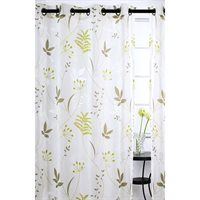 Floral Sheer Burnout 95-in Blossom 2-Piece Grommet Curtains