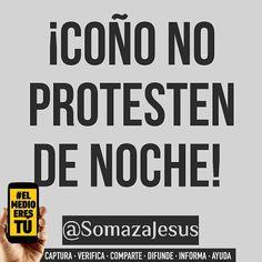 Suscribo cada palabra de @somazajesus. No es coartar tu derecho a la protesta es resguardar tú seguridad y la de los tuyos. Una cosa es comenzar una protesta de día y que se extienda hasta la noche o hasta por varios días y otra muy distinta es comenzar de noche cuando ni te ven ni los ves. Se trata de ser inteligentes.  #ElMedioEresTú  Vía @somazajesus - Coño! Si deseas expresarte en la Calle Hazlo de día!  Si deseas marchar pacíficamente por la razón que sea Hazlo de día!  Si deseas salir…