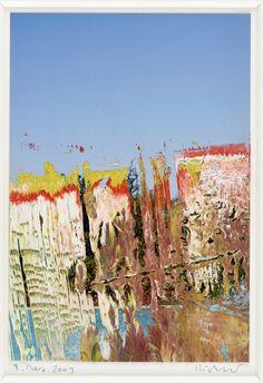 Untitled - 2009 by Gerhard Richter. Medium: Oil on photograph; Gerhard Richter Painting, Pop Art, Kehinde Wiley, Jeff Koons, Takashi Murakami, Art Walk, Color Stories, Banksy, Contemporary Artists