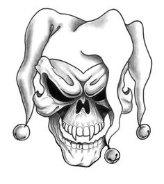 joker skull tattoo design - tattoo drawing designs on paper Printable Tattoos, Skull, Picture Tattoos, Joker Tattoo Design, Joker Tattoo, Tattoo Sketches, Jester Tattoo, Tattoo Stencils, Skulls Drawing